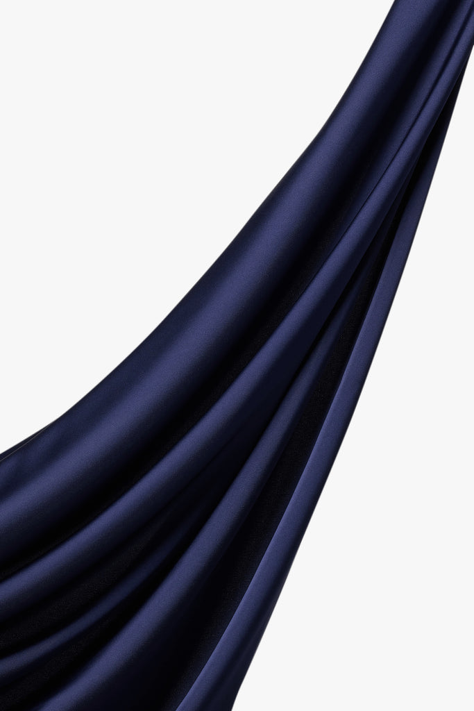Perfect Satin Hijab - Navy