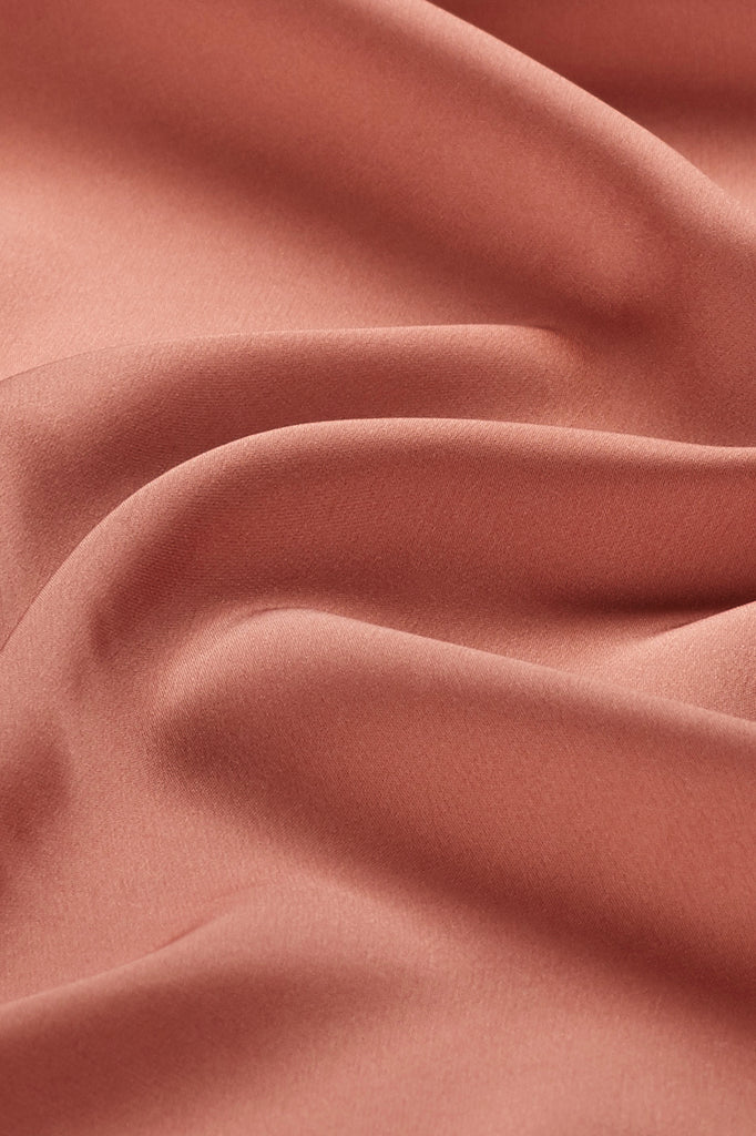 Perfect Satin Hijab - Adobe Rose