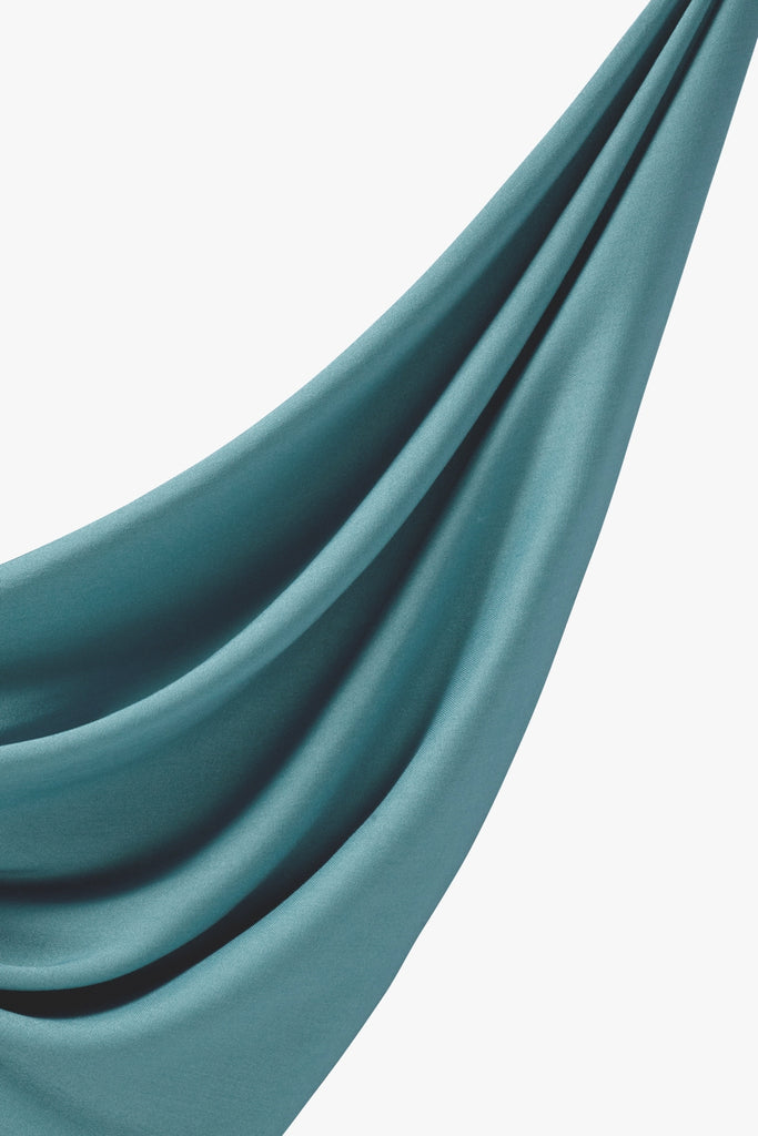 Viscose Woven Hijab - Turkish Blue