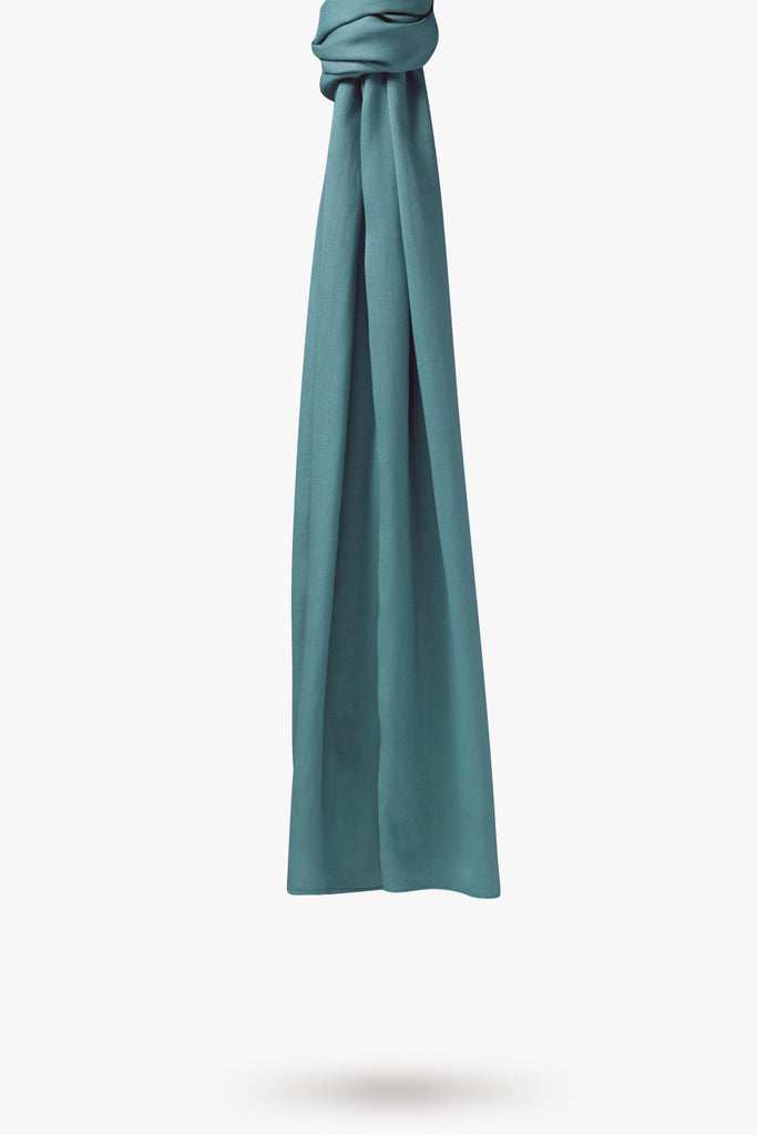 Lightweight Woven Hijab - Turkish Blue