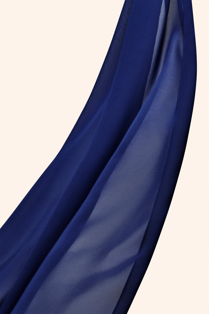 Everyday Georgette Hijab - Royal Blue
