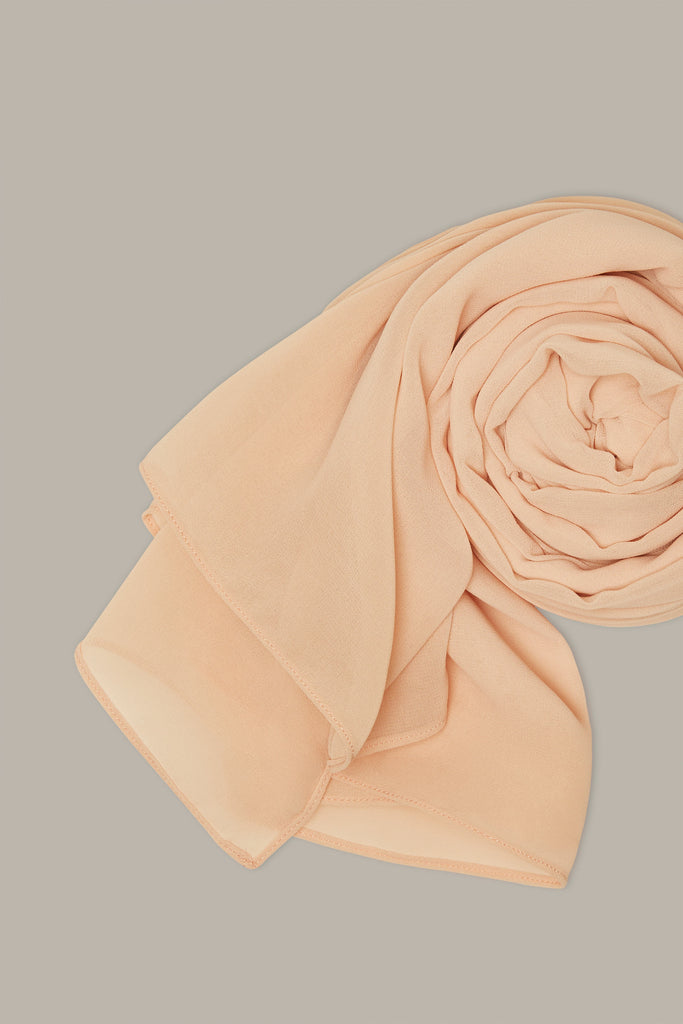 Everyday Georgette Hijab - Apricot