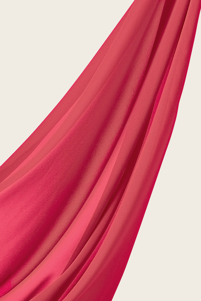 Everyday Georgette Hijab - Coral