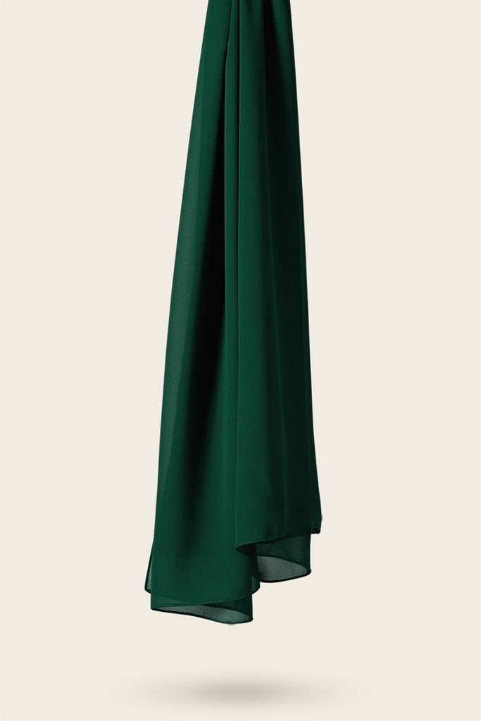 Everyday Georgette Hijab - Emerald