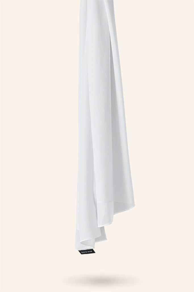 Everyday Georgette Hijab - White