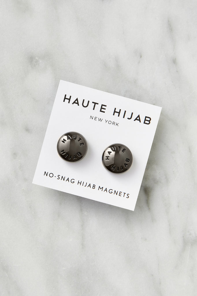 No–Snag Hijab Magnets - Gunmetal
