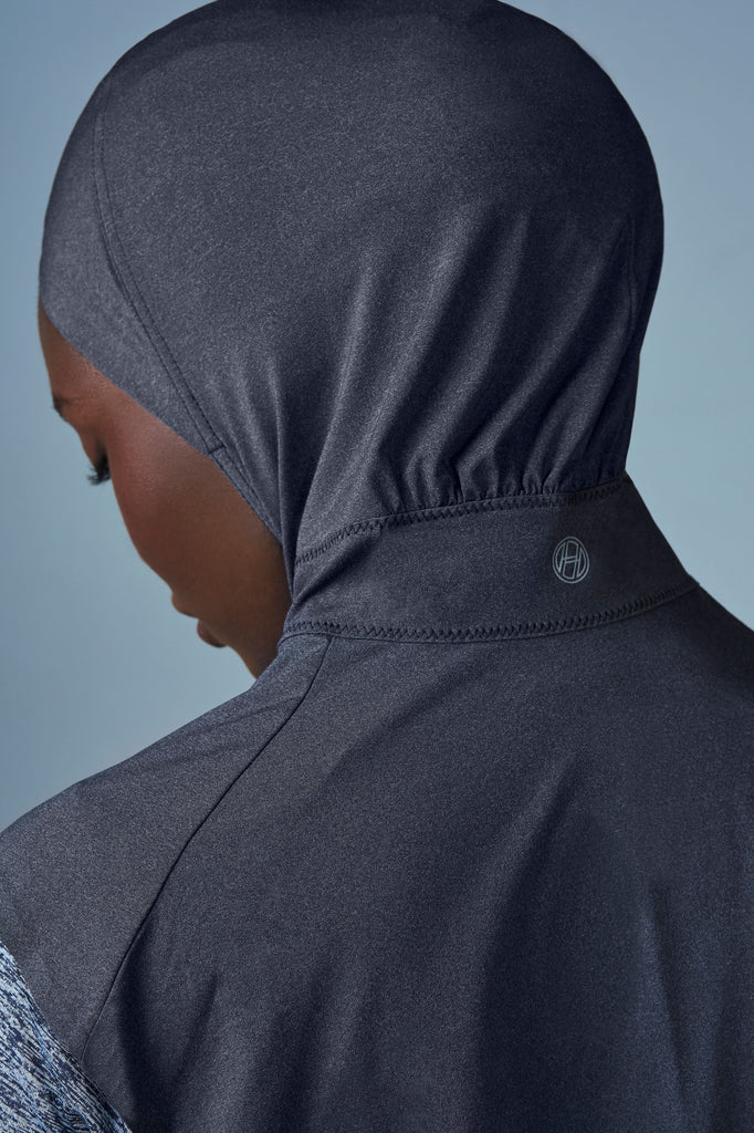 Criss–Cross Sport Hijab - Carbon