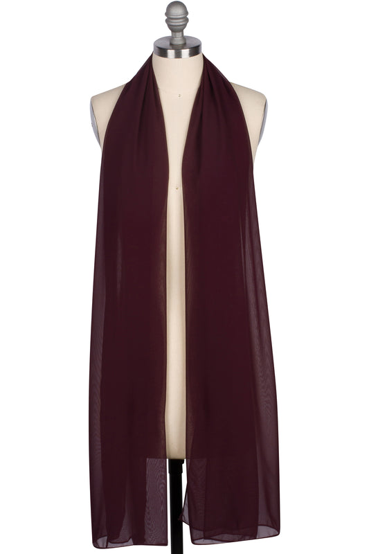 Everyday Chiffon Hijab - Wine