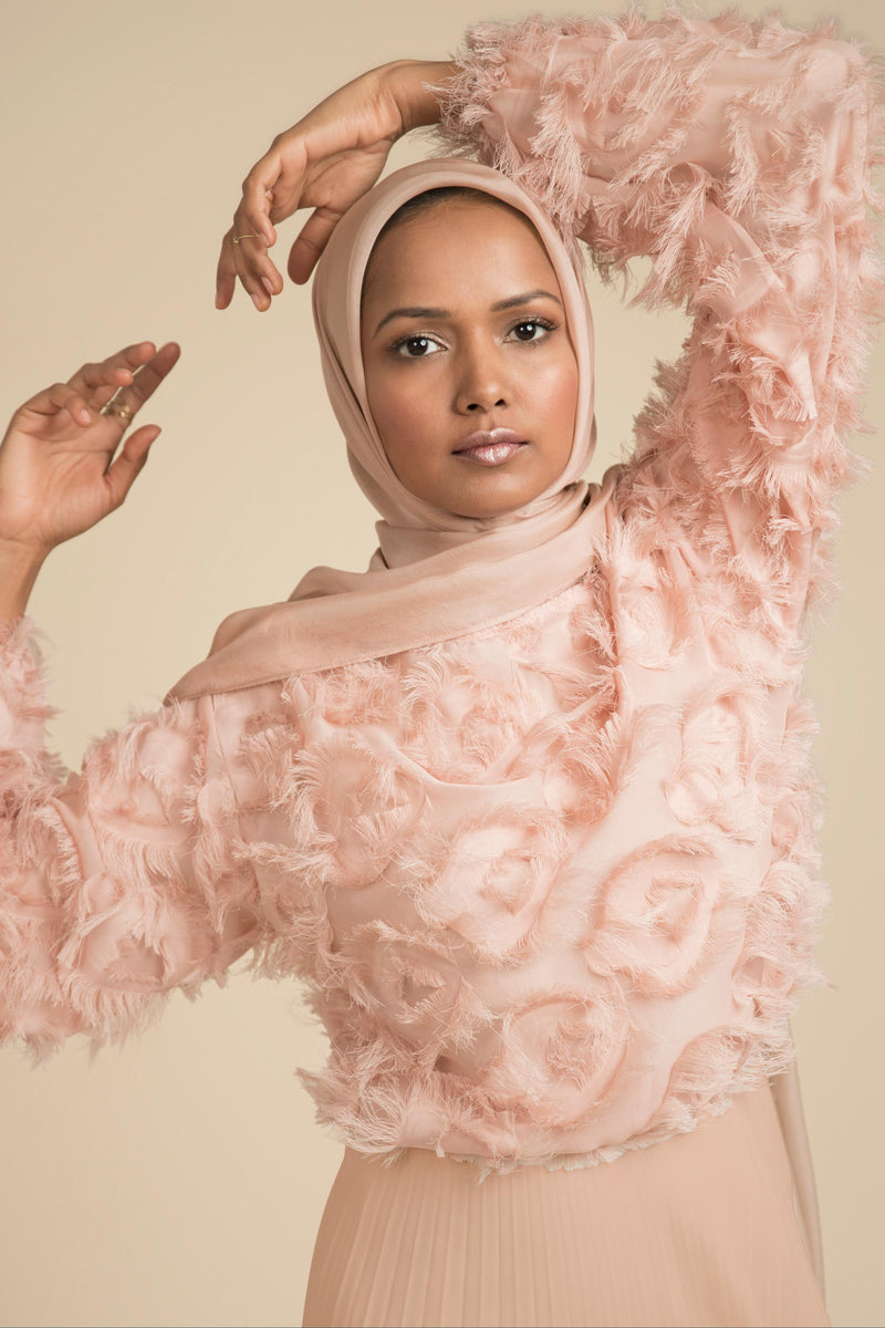 Essential Silk Hijab - Rose Blush