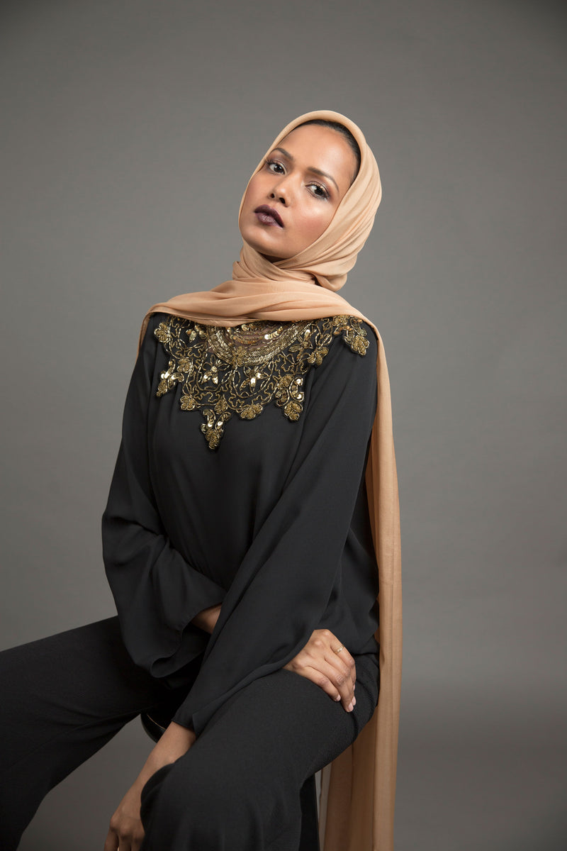Essential Silk Hijab - Vintage Gold