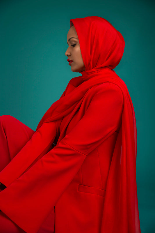 Essential Silk Hijab - Classic Red