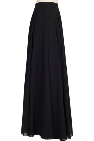 Chiffon Circle Skirt - Black