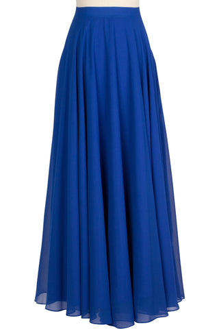 Chiffon Circle Skirt - Royal Blue