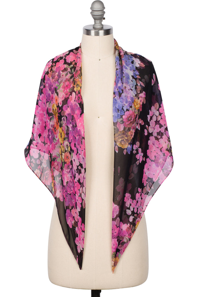 Scarves - Midnight Rose Scarf
