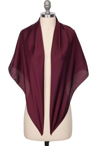 Perfect Satin Scarf - Burgundy