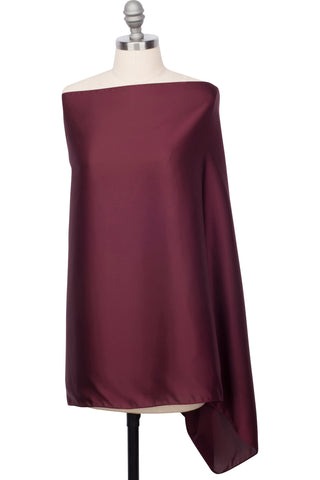 Perfect Satin Wrap - Burgundy