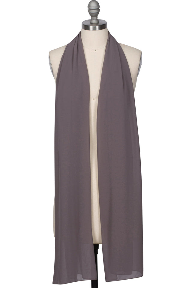 Everyday Georgette Hijab - Gunmetal