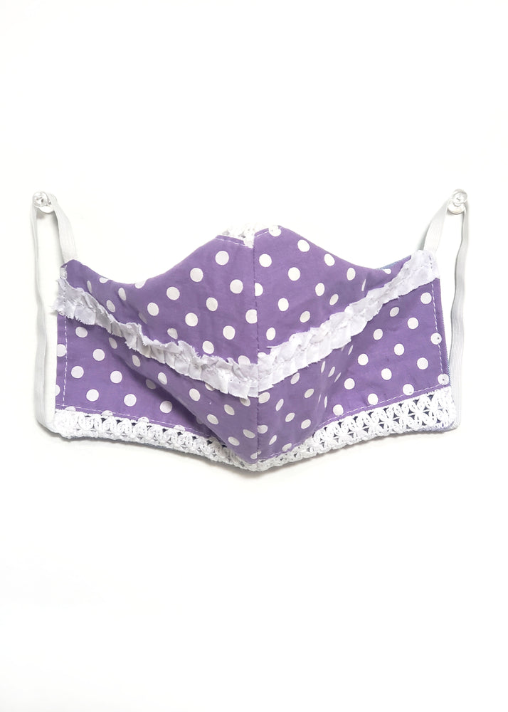 Load image into Gallery viewer, Face Mask - Vintage Purple Fabric