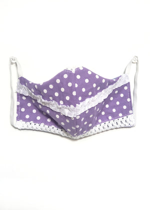 Face Mask - Vintage Purple Fabric