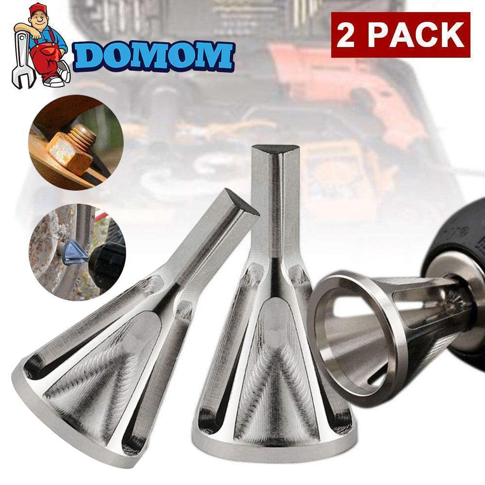 NEEDL CO Deburring Tool for Drill Bit External Chamfer Tool Fits Size 8-32 Bolts,Stainless Steel Bolt Thread Repair Tool