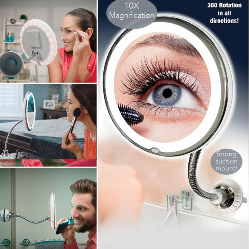 Magnifying Makeup Mirror with LED Light