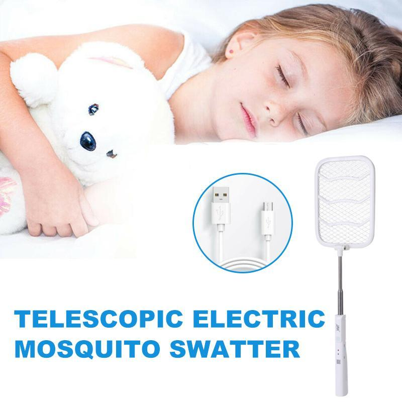 Telescopic electric mosquito swatter