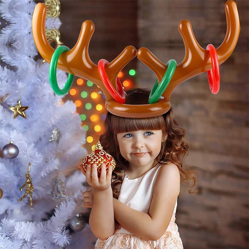 Christmas Reindeer Antler Ring Toss Game