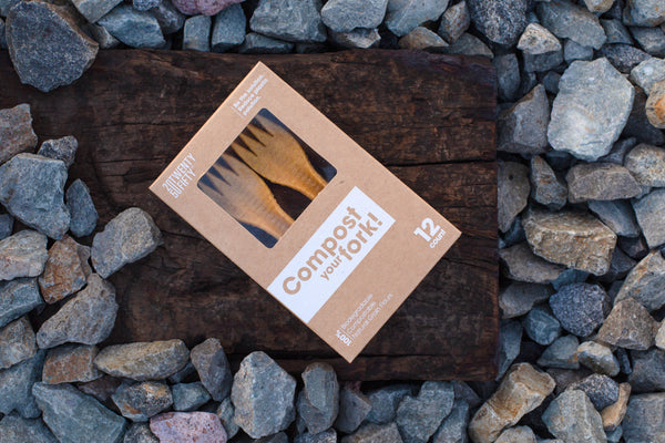12 COMPOSTABLE FORKS