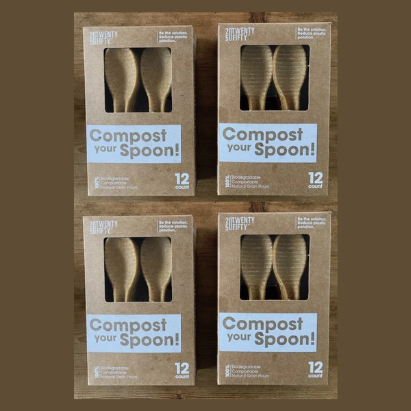 COMPOST YOUR SPOON! 48 SPOONS  BEST VALUE!