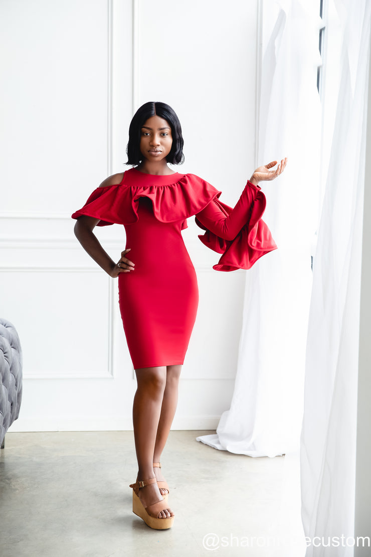Red Mini Gown Perfect for Photo shoots and Special Occasions