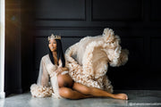 The Nude Luxe Rose Ruffle Robe - Custom Product Limited Availability