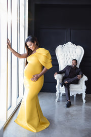 Yellow Maternity Dress for Photo Shoot and Baby Showers - Tulip Maternity Dress
