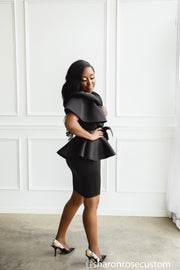 Black Short Dress Perfect for Photo shoots and Special Occasions - The Black Stunter Dress