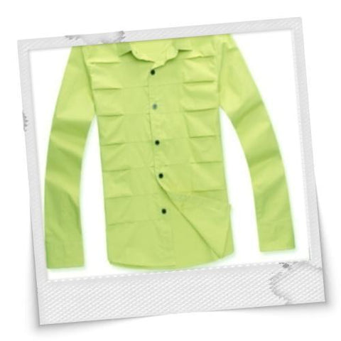 Western Style Cool Pure Long Sleeve Shirt Yellow