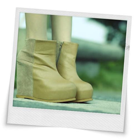 New Splice Inside Waterproof Wedges Boots