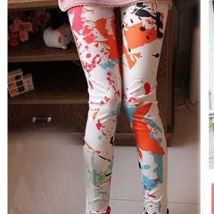 Colorful Splash-Ink Leggings
