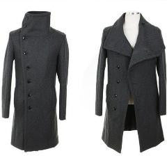 Trendy Single-Breasted Stand Collar Cropped Coat