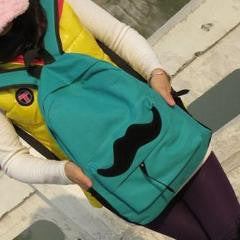 The Mustache Backpack
