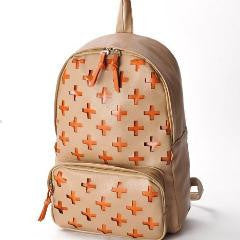 Unique Cross Design PU Backpack