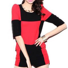 Round Neck Black & Red Rumper