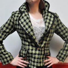 Lime Tweed Blazer