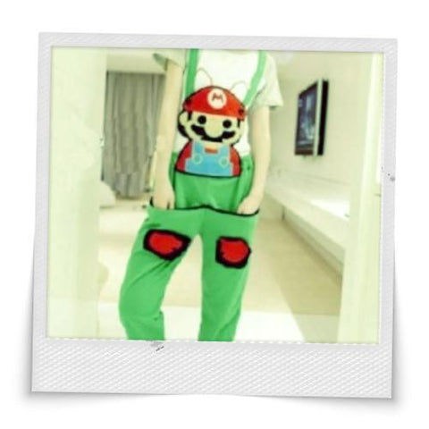 Cute Mario Harem Suspender Pants :)