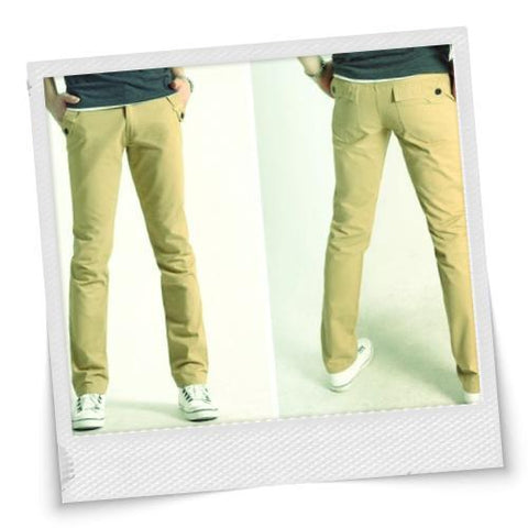 Size Pockets Button Casual Trousers
