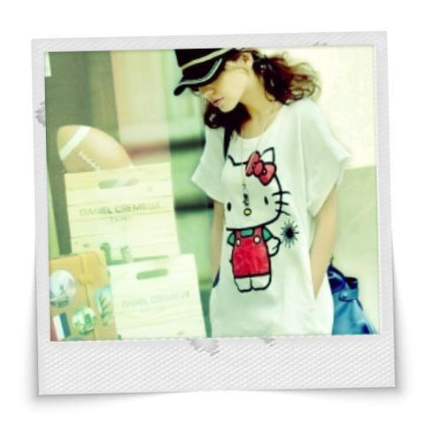 Hello Kitty Casual Comfy Shirt