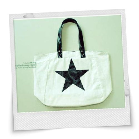 Simple Style Stars Printed Canvas Bag