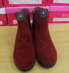 Red Skull Embellished Boots