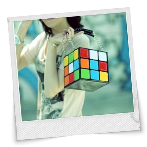 Rubik's Cube Square Colorful Handbag