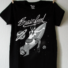 Space Girl Tee-BrainFood