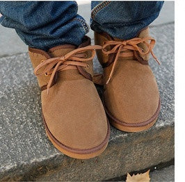 Mens Lace Up Warm Brown Shoes