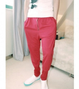 Red Loose Harem Pants